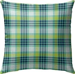 Kavka Designs Book Green Plaid Outdoor Pillow - OPI-OP16-16X16-NOR059