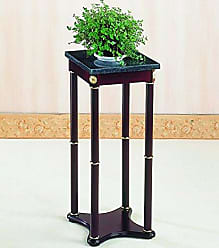 Coaster Marble Top Plant Stand Merlot and Green