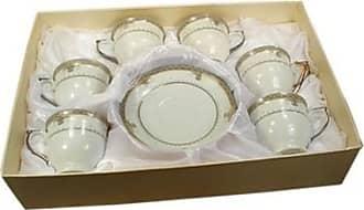 D'Lusso Designs Lines Design Home Decorative 12 Piece Espresso Set - White