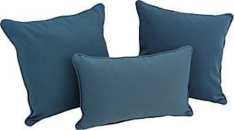 Blazing Needles 9817-S3-CD-TW-BG Double-Corded Solid Twill Throw Pillows with Inserts (Set of 3), Burgundy