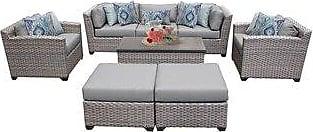 TK Classics Florence 8 Piece Outdoor Wicker Patio Furniture Set 08c (standard)