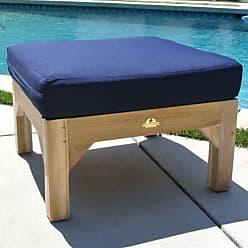 Willow Creek Designs Huntington Teak Ottoman with Sunbrella Cushion
