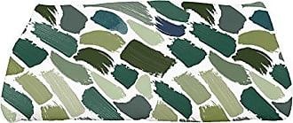 E by Design E by design TG864GR37 Tufted, Geometric Print Bath Towel 28 x 58 Green