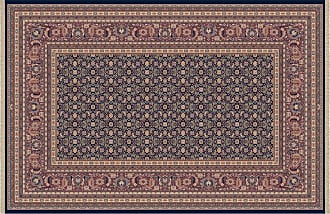Dynamic Rugs Brilliant Collection Wool Hearth Rug-Navy Cyril - BR2472240520