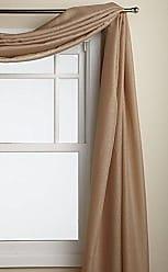 Ben&Jonah Ben & Jonah Simple Elegance by Ben&Jonah Semi-Sheer Snow Voile Window Curtain Scarf (60 W x 216 L) - Taupe