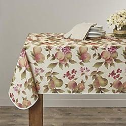 Violet Linen European Fruttela Tablecloth, 60 x 84, Beige
