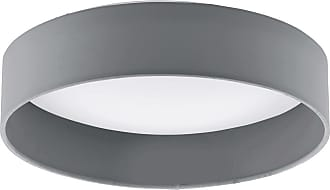 Eglo Palomaro LED Ceiling Light in Anthracite with White Glass