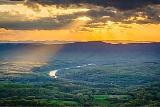 Noir Gallery Sunset from Skyline Drive in Shenandoah National Park on Canvas - SHEN-06-TW-08