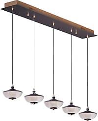 ET2 E23155-126 Bella 5 Light 43 Wide LED Linear Pendant Bronze / Gold