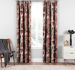 Ellery Homestyles Eclipse Chiswick Room Darkening Single Window Curtain, 37 x 84, Tuscan