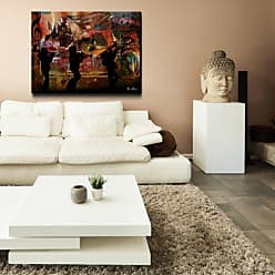 Ready2HangArt Jazz Trio Abstract Modern Contemporary Oversized Canvas Wall Art Print, 30 x 40, Multi Color