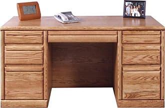 Forest Designs Customizable Contemporary 1048 Computer Desk - 1048-B