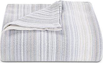 Revman International Tommy Bahama Sandy Shore Stripe Blanket, King, Beige