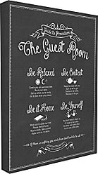 Stupell Industries Stupell Home Décor The Guest Room Guide Stretched Canvas Wall Art, 16 x 1.5 x 20, Proudly Made in USA