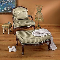 Design Toscano Rue Saint-Honore Bergere Chair and Ottoman, 32