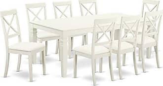 East West Furniture LGBO9-LWH-LC Logan Set