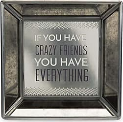 Pavilion Gift Company 68527 Pretty Inappropriate - If You Have Crazy Friends You Have Everything Square Mirrored Desk Decor Plaque