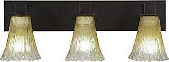 Toltec Lighting Zilo 3 Light Bath Bar with 5.5 Amber Crystal Glass