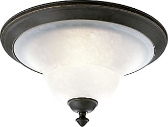 PROGRESS P3718-84 Three-light close-to-ceiling in Espresso finish with etched watermark glass