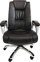 Pelegrin Cadeira Presidente Couro PU Preta PEL-1652 - Pelegrin