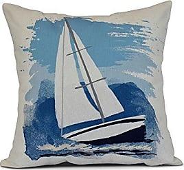 E by Design E by design Sailing The Seas Geometric Throw Pillow 20 Blue