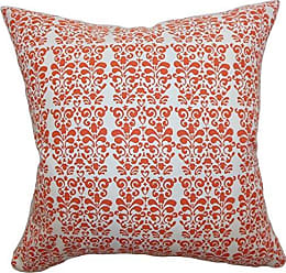 The Pillow Collection Indre Geometric Pillow, Orange