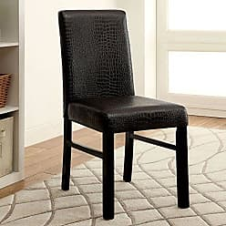 FURNITURE OF AMERICA 24/7 Shop at Home 247SHOPATHOME IDF-3278SC Dining-Chairs, Black