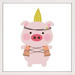 Marmont Hill Hipster Pig Framed Print - MH-SHAPIT-29-NWFP-12