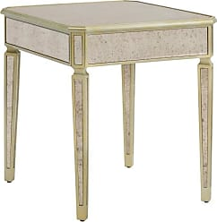 Weston Home Devrim 1 Drawer Mirrored End Table - 68E678-04