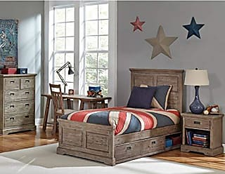 Hillsdale Furniture 7104-330NS Oxford Panel Bed with Storage, Twin, Cocoa