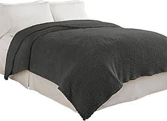 Ellery Homestyles Beautyrest Cosette Ultra Soft Blanket, Twin, Smoke