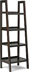 Simpli Home Simpli Home 3AXCSAW-05-BR Sawhorse Solid Wood 72 inch x 24 inch Modern Industrial Ladder Shelf in Dark Chestnut Brown