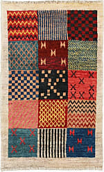 Nain Trading Persian Gabbeh Loribaft Rug 31x111 Beige/Dark Blue (Iran/Persia, Wool, Hand-Knotted)