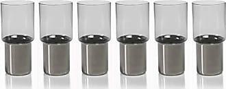 Zodax Como Glasses Highball Glass, Smoke (Set of 6)