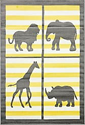 Unique Loom Metro Collection Modern Animals Bright Colors Kids Gray Area Rug (4 x 6)