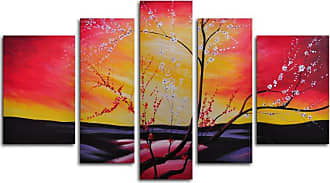 Omax Decor The Great Beyond 5-Piece Canvas Wall Art - 68W x 40H in. - M 2027
