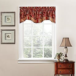 Ellery Homestyles Traditions By Waverly 14312052016CRI Navarra Floral Window Valance, 52 x 16, Crimson
