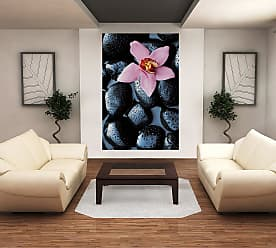 Ideal Decor Stone Orchid Wall Mural - DM666