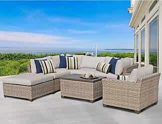 TK Classics Monterey 7 Piece Outdoor Wicker Patio Furniture Set 07d (Size)