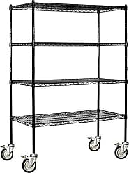 Salsbury Industries Mobile Wire Shelving Unit, 48-Inch Wide by 69-Inch High by 18-Inch Deep, Black