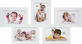 S65SK3 Holzgalerierahmen 12 Fotos 10x15 cm weiß