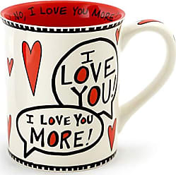 Enesco 4056352 Love You Most Stoneware Mug, 16 oz, Red