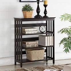 Round Hill Furniture Aix Wooden Contemporary Bookcase - 3445