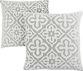 Monarch Specialties Motif Design 18 x 18 Light Grey 2 Piece Pillow