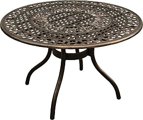 Oakland Living Outdoor Oakland Living Ornate Mesh Lattice Aluminum Round Patio Dining Table - 2666-ROUND-48-ORNATE-TABLE-BZ
