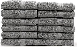Linum Home Textiles 100% Turkish Cotton Sinemis Terry Bath Towel (Set of 12), Dark Grey