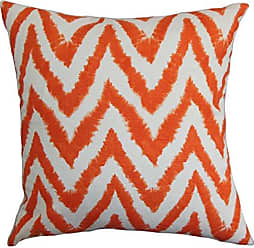 The Pillow Collection Kingspear Zigzag Bedding Sham Orange Queen/20 x 30
