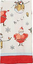 Ulster Weavers s Madeleine Floyd Santa and Snowmen Linen Tea Towel