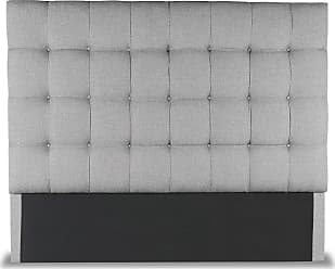 SOUTH CONE Patrick Box Tufted Upholstered Headboard Charcoal, Size: Queen - PATRHEADHIGHQNCHRC