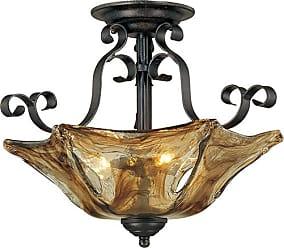 Millennium Lighting Chatsworth 3-Light Semi-Flush in Burnished Gold